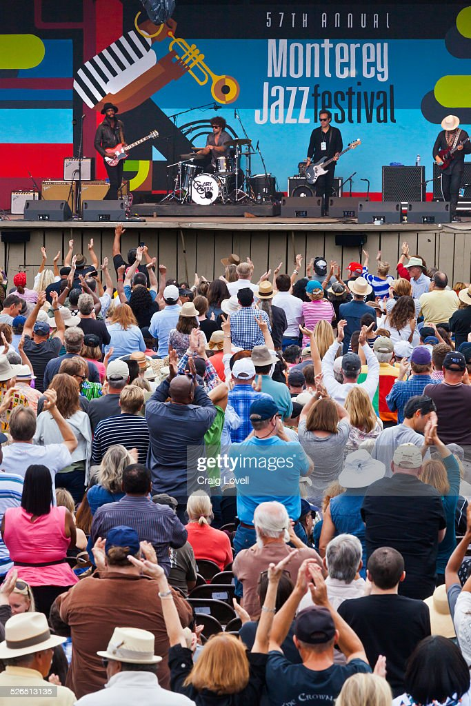 JR  preforms on the main stage at the MONTEREY News Photo