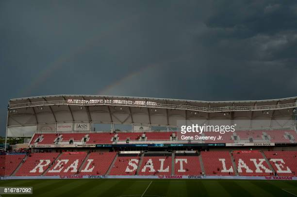 Pregame activities before the International friendly game between Manchester United and Real Salt Lake were delayed due to inclement weather which...