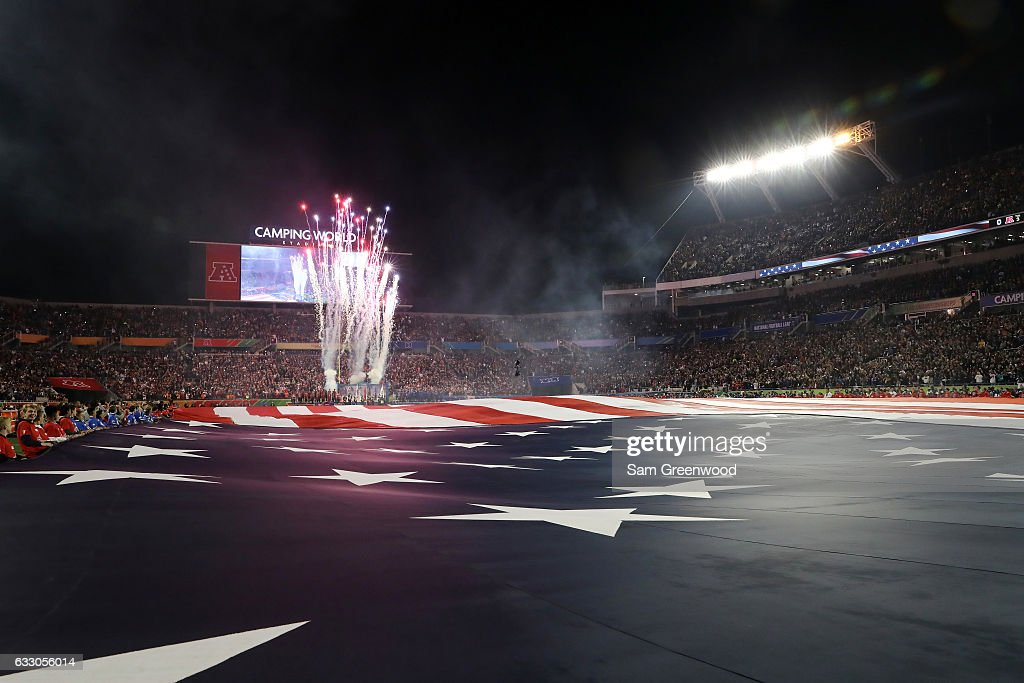 pre-game ceremonies take place for the NFL Pro Bowl at the Orlando Citrus Bowl on January 29, 2017 in Orlando, Florida.