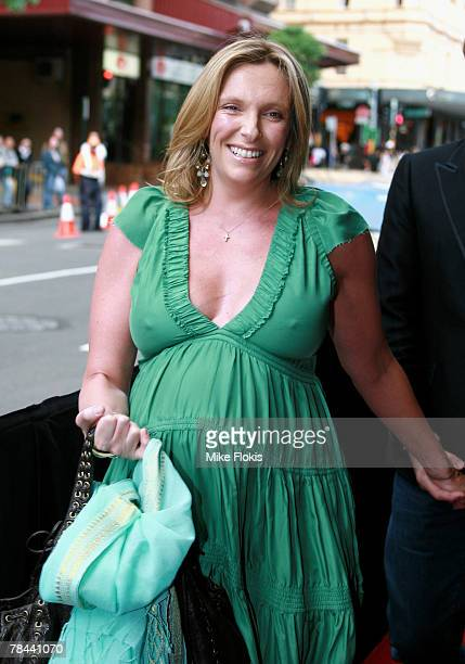 Pregnant Actress Tony Collette attends the Sydney premiere of Billy Elliot The Musical at the Capitol Theatre on December 13 2007 in Sydney Australia