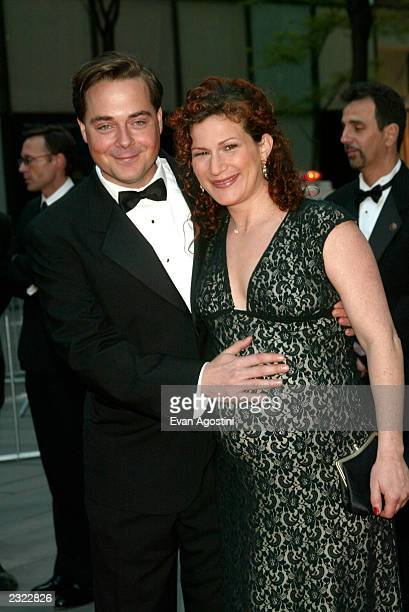Pregnant Ana Gasteyer with husband Charlie McKittrick arriving at the NBC 75th Anniversary Celebration at Rockefeller Plaza in New York City. May 5,...