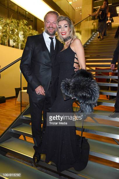 Pregnant Annika Gassner and her boyfriend Istok Kespret during the Dolphin's Night at InterContinental Hotel on November 24 2018 in Duesseldorf...