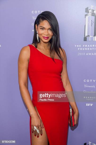 Pregnant Chanel Iman attends 2018 Fragrance Foundation Awards at Alice Tully Hall at Lincoln Center