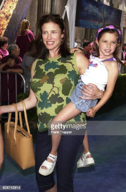 A pregnant Mimi Rogers with her daughter Lucy at the premiere of 'Atlantis The Lost Empire'