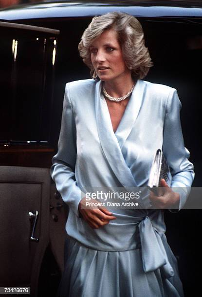 Pregnant Princess Diana arrives for the premiere of 'Indiana Jones And The Temple Of Doom', London, 11th June 1984. She is wearing a Catherine Walker...