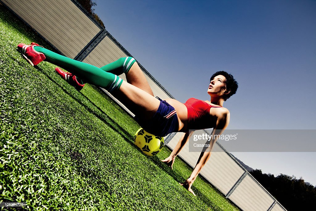 Femme enceinte Joueur de football : Photo