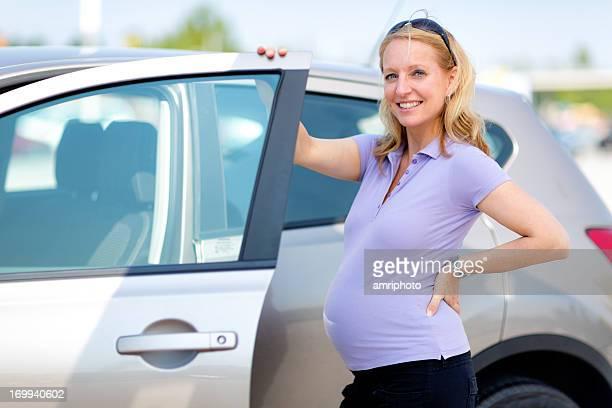 Femme enceinte Portière de voiture