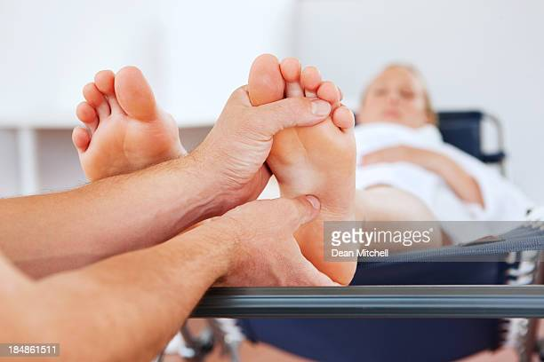 Pregnant Woman Getting a Foot Massage