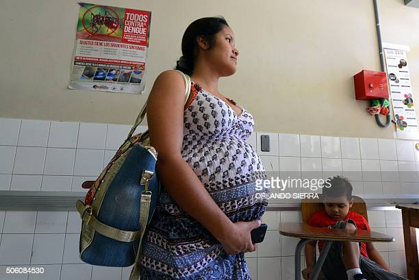 A pregnant woman waits to be attended at the Maternal and Children's Hospital in Tegucigalpa on January 21 2016 The medical school at the National...