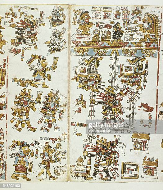 prehispanic america high culture regions mexico mesoamerica art objects religion Codex Vindobonensis Mexicanus I pictorial manuscript of eraly 16th...