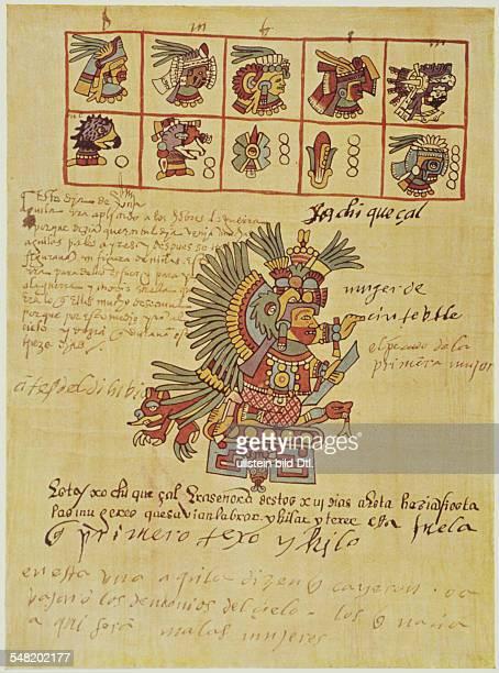 prehispanic america high culture regions mexico mesoamerica art objects religion Codex TellerianoRemensis pictorial manuscript of eraly colonial...