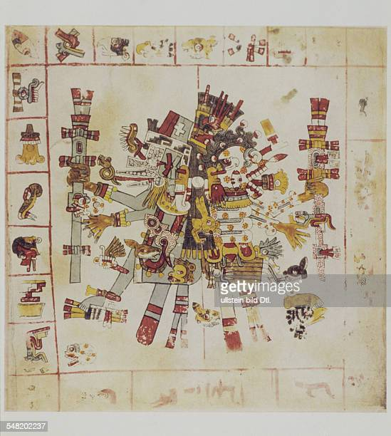 prehispanic america high culture regions mexico mesoamerica art objects religion Codex Borgia pictorial manuscript of eraly 16th cent Plate 73 The...
