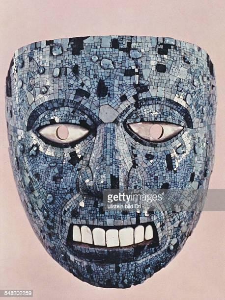 prehispanic america high culture regions mexico mesoamerica art objects Turquiose mosaic mask of aztec god 'Nanahuatzin' 1450/1520