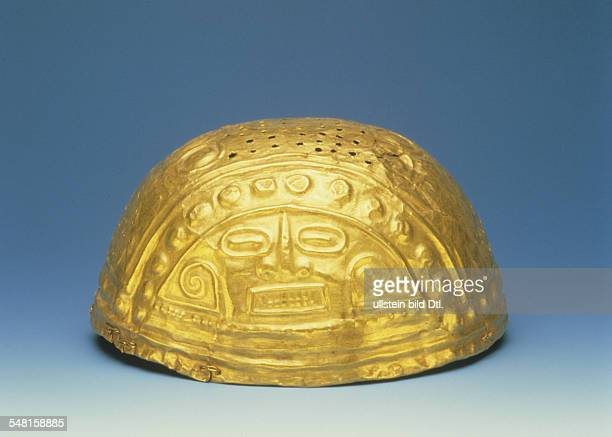 Prehispanic america tribal chiefdoms of columbia Gold cap of the Quimbya culture about 5001000 AD