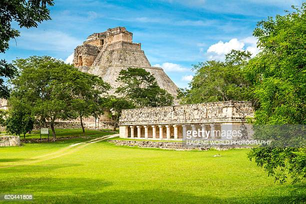 pre-hispanic town of uxmal - merida mexico stock photos and pictures