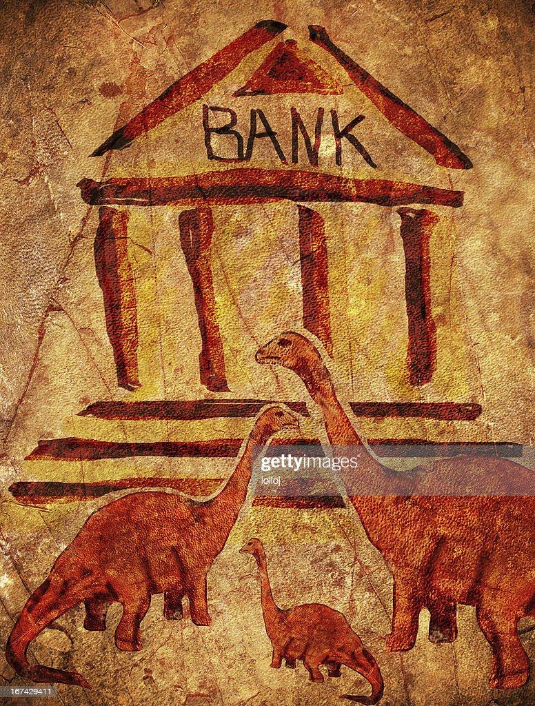 Banco prehistórica : Foto de stock
