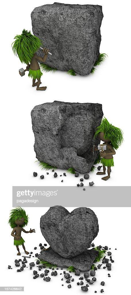 prehistoric love : Stockfoto