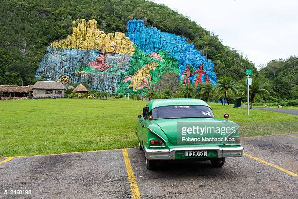 Prehistoric Mural Located on The Valley of Viñales or Vinales Valley the landmark has just turned 50 years old