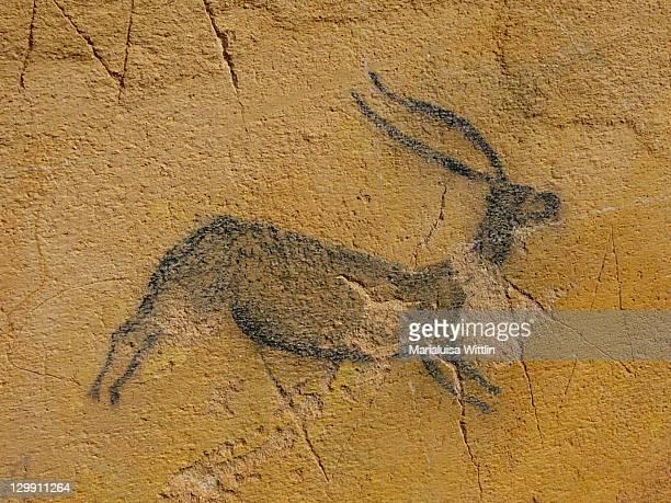 prehistoric painting - pintura rupestre fotografías e imágenes de stock