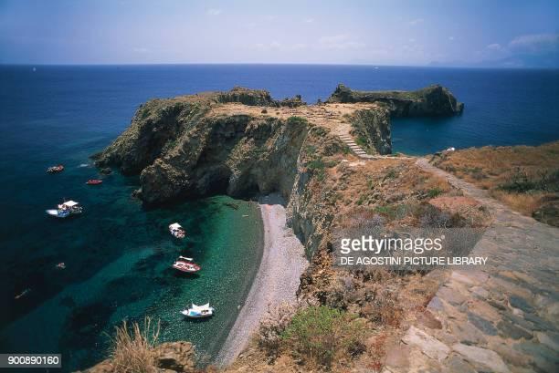 Prehistoric village of Capo Milazzese Panarea Island Aeolian islands Sicily Italy