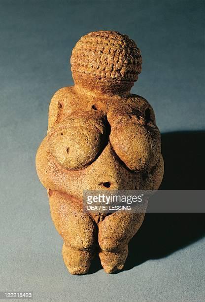Prehistory Austria Paleolithic Gravettian The Venus of Willendorf made of limestone