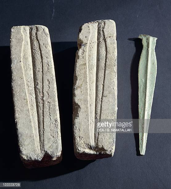Prehistory Italy Bronze Age Models or casting molds for daggers From Coriano province of Rimini