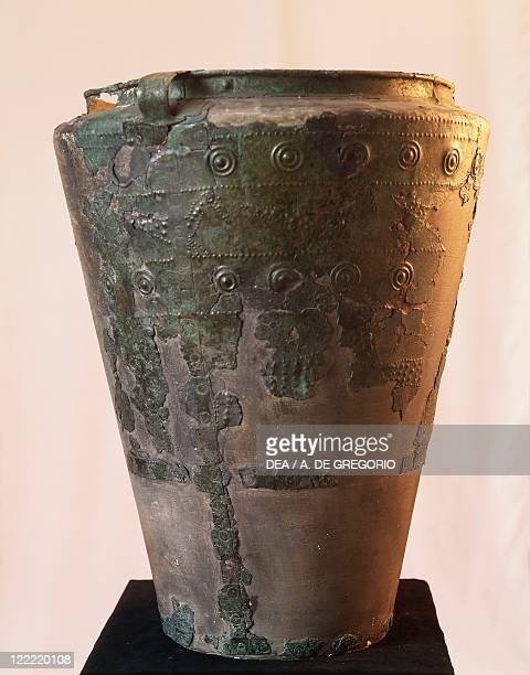 Prehistory, Italy, Iron Age. Golasecca culture. Situla from the tomb of the warrior at Sesto Calende, province of Varese.