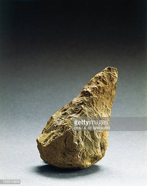 Prehistory Italy Lower Paleolithic Amygdale from the Grotte di Torre Talao in Scalea Cosenza