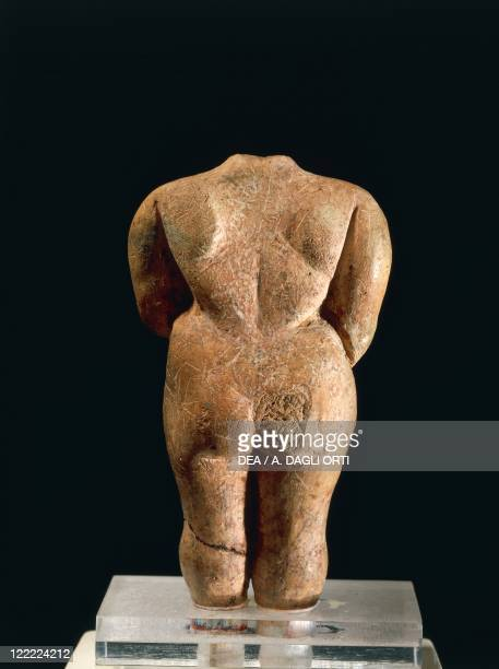 Prehistory Malta Neolithic Terracotta figure known as Venus of Malta From Hagar Qim megalithic temple