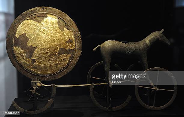 Prehistory The Trundholm sun chariot Early Bronze Age C 1400 BC Scandinavian