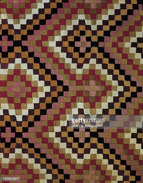 PreInca civilization Peru 13th century Paracas culture Cloth with geometric patterns Paracas necropolis period from Paracas