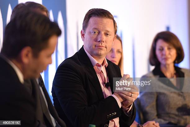 Preisdent of Managed Media Sales at Millennial Media Jason Kelly speaks onstage at the Masters of Monetization Video panel during Advertising Week...