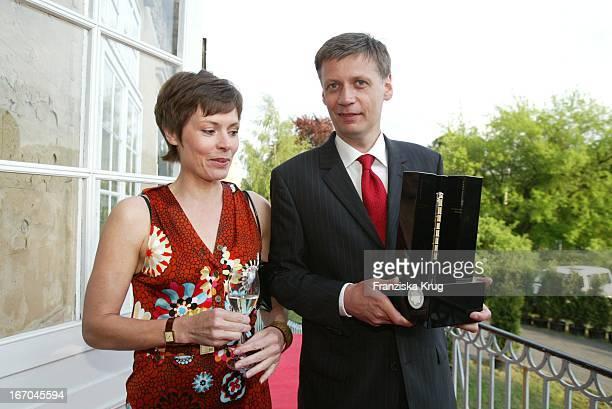 Preisträger Günther Jauch Mit Freundin Dorothea Sihler Bei Der Verleihung Des Montblanc De La Culture Arts Patronage Award 2003 Im Palais Lichtenaau...
