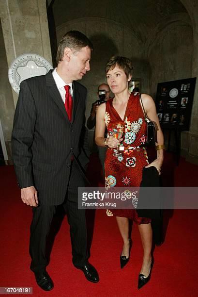 Preisträger Günther Jauch Und Freundin Dorothea Sihler Bei Der Verleihung Des Montblanc De La Culture Arts Patronage Award 2003 Im Palais Lichtenaau...
