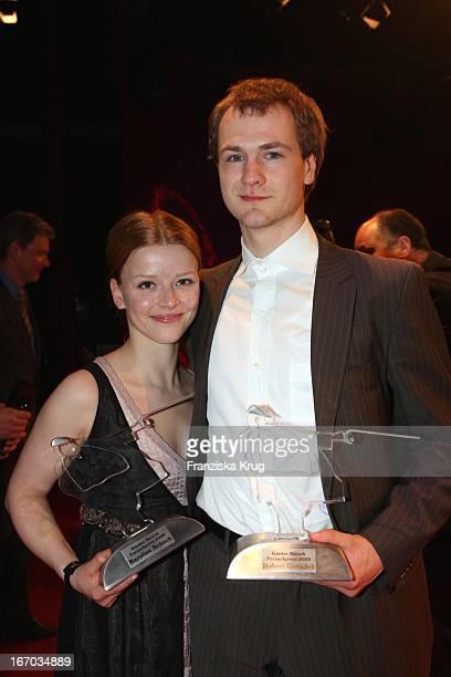 Preisträger Karoline Schuch Und Robert Gwisdek Beim Studio Hamburg Nachwuchspreis Bei Studio Hamburg In Hamburg
