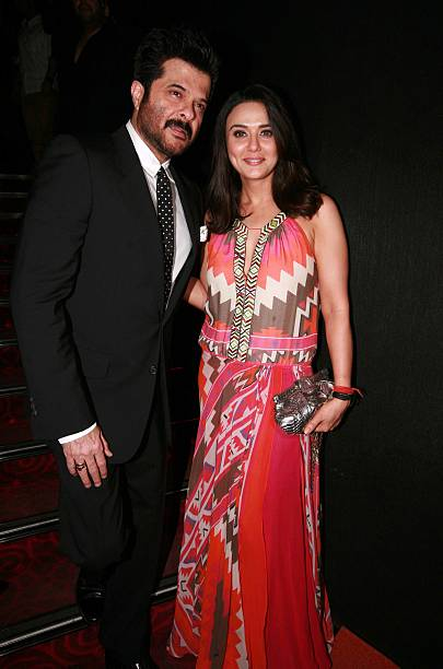 Preity Zinta and Anil Kapoor at the premiere of the movie Ishq in Paris in Mumbai