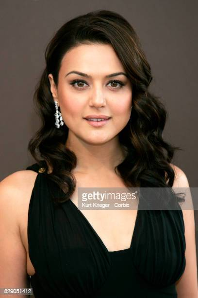 Image has been digitally retouched Preity Zinta arrives at the ChopardLuncheon during the 59th International Film Festival in Cannes France on May 18...