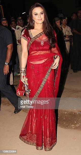 Preity Zinta at the 56th Idea Filmfare Awards at Yashraj Studios in Mumbai
