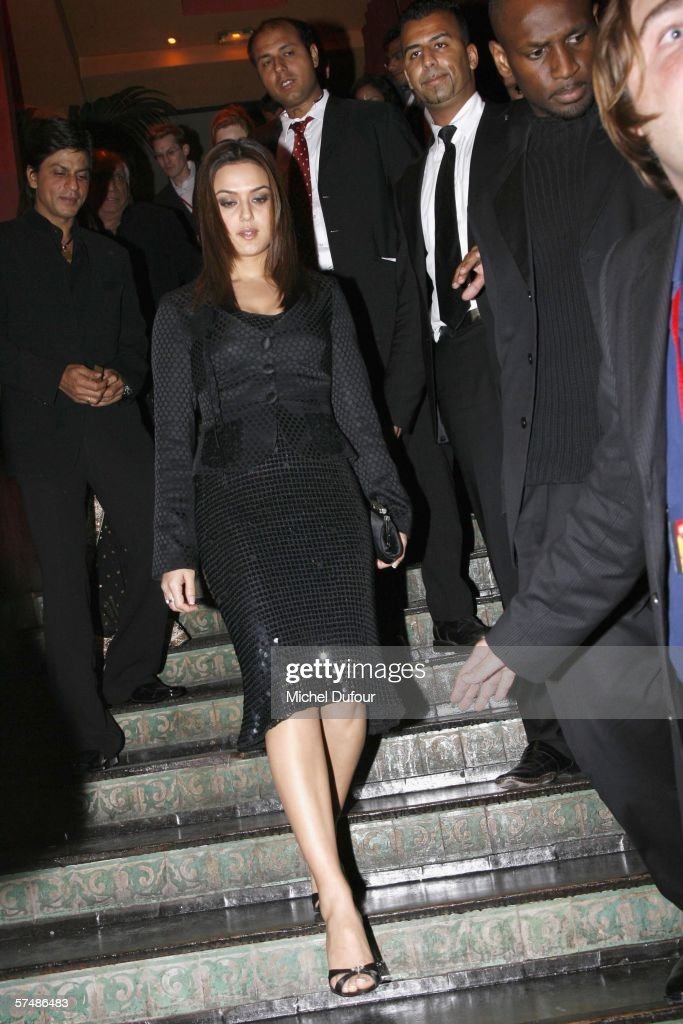 Preity Zinta attends the `Veer Zaara` film premiere after party at Le Grand Rex in the Mandalaray on April 26th 2006 in Paris France