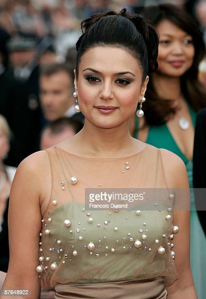 Preity Zinta, daughter of Chopard President Caroline Gruosi-Scheufele, attends the 'The Wind That Shakes The Barley' premiere at the Palais during...