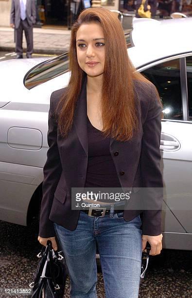 Preity Zinta during Bollywood's Temptation 2004 Photocall at Washington Hotel in London Great Britain