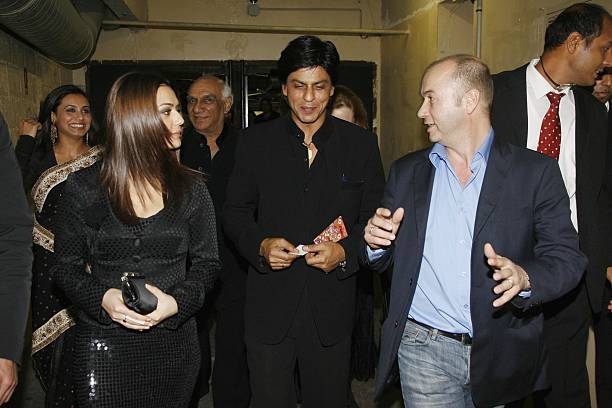 Preity Zinta Shahrukh Khan and Thierry Klemnuk attend the `Veer Zaara` film premiere after party at Le Grand Rex in the Mandalaray on April 26th 2006.