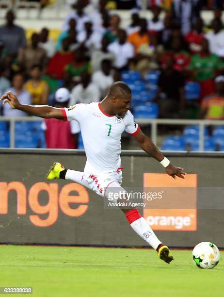 Prejuce Nakoulma of Burkina Faso in action during the 2017 Africa Cup of Nations semifinal football match between Burkina Faso and Egypt at the Stade...