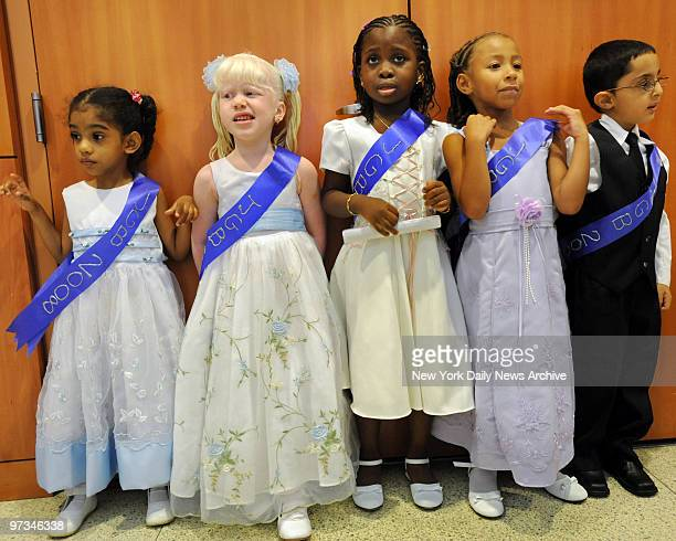 PreK kids with disabilities participate in their graduation ceremony at the Jewish Guild for the Blind graduates get ready