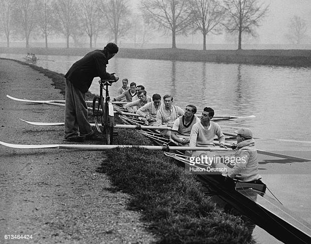 Preliminaries For The Boat Race The Varsity boat race is a long way off but the trial eight crews at Cambridge are already putting in some hard work...