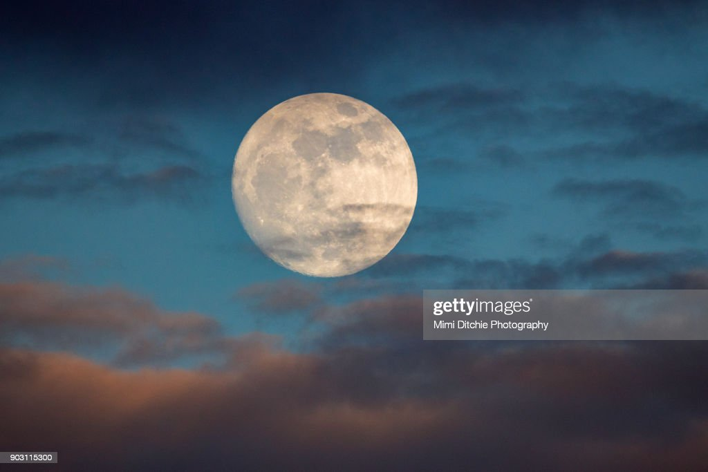 Prelude To The Supermoon : Stock Photo