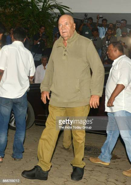 Prem Chopra at Shashi Kapoor's condolence meeting at Prithvi Theatre in Mumbai