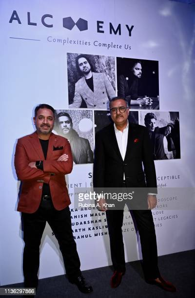 Prem Dewan and Shailesh Grover of Corneliani DLF Emporio at the third edition of Chivas 18 Alchemy 2019 on March 16 2019 in New Delhi India