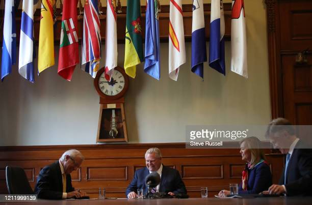 Premier Doug Ford along with Health Minister Christine Elliott, Victor Fedeli, Minister of Economic Development, Job Creation and Trade and Rod...