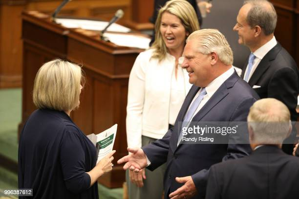 Premier Doug Ford has a laugh with NDP Leader Andrea Horwath Progressive Conservative MPPs and Premier Doug Ford sat in the Legislature at Queen's...